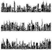 Futuristic Megalopolis City Of Skyscrapers Vector. Stock Photos