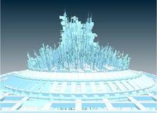 Futuristic Megalopolis City Of Skyscrapers Vector Stock Image
