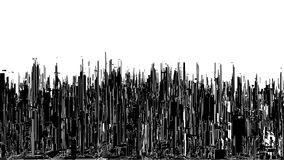 Futuristic Megalopolis City View Vector. Futuristic Megalopolis City View Illustration  Vector Stock Image