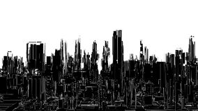 Futuristic Megalopolis City View Vector. Futuristic Megalopolis City View Illustration  Vector Stock Photo