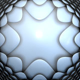 Futuristic metal material 3d background Royalty Free Stock Photography