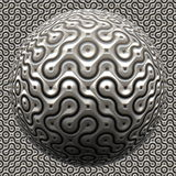 futuristic metallisk spheroid Royaltyfria Foton