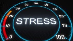 Stress meter or indicator. Conceptual 3D animation. Futuristic meter conceptual 3D animation stock footage