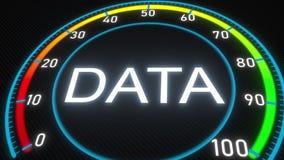 Data futuristic meter or indicator. Conceptual 3D rendering. Futuristic meter conceptual 3D ren Royalty Free Illustration