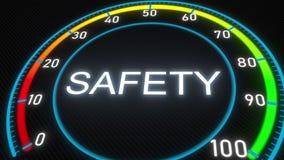 Safety futuristic meter or indicator. Conceptual 3D rendering. Futuristic meter conceptual 3D rendering stock illustration