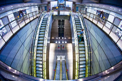 Futuristic of metro station Royalty Free Stock Photography