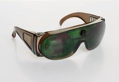 Futuristic microchip goggles Stock Images