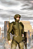 Futuristic military girl Stock Images