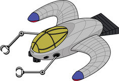 Futuristic Mining Ship royalty free illustration