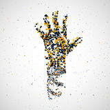 Futuristic model of hand dna, abstract molecule Royalty Free Stock Photo