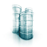 Futuristic Modern Abstract Design Glass Shiny Building Project. 3d Render Illustration Stock Photos