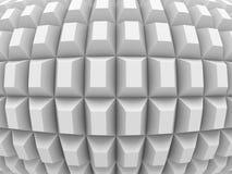 Futuristic Modern Abstract Geometric White Background Royalty Free Stock Photos