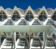 Futuristic modern building with repetitive arches Royalty Free Stock Image