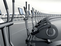 Futuristic modern gym elliptical cross trainer Stock Image