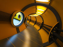 Futuristic modern interior Stock Images