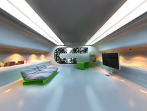 Futuristic modern interior Stock Photography