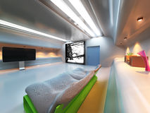 Futuristic modern interior Stock Photos