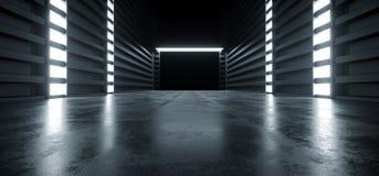 Free Futuristic Modern Sci Fi Concrete Hallway Corridor Tunnel Warehouse Underground Garage Grunge Dark Empty Reflection Showcase Stage Stock Photography - 147859082