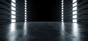 Free Futuristic Modern Sci Fi Concrete Hallway Corridor Tunnel Warehouse Underground Garage Grunge Dark Empty Reflection Showcase Stage Royalty Free Stock Image - 147859696
