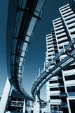Futuristic monorail city Royalty Free Stock Image