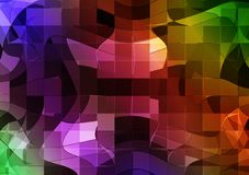 Futuristic mosaic. Futuristic background with abstract mosaic pattern Royalty Free Stock Photos