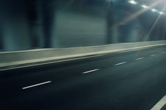 Futuristic motion blur road in tunnel Royalty Free Stock Photo