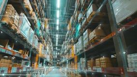Futuristic multi-level warehouse