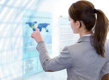 Futuristic Multi Touch Screen stock photos
