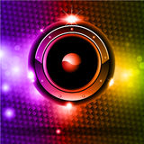 Futuristic Music Disco Background Stock Image