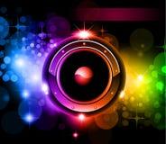 Futuristic Music Disco Background royalty free illustration