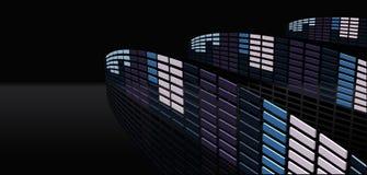 Futuristic music frequency stock illustration