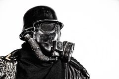Futuristic nazi soldier studio shot Royalty Free Stock Photos