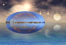 Futuristic NCPA and universe background royalty free stock photo