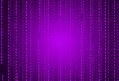 Futuristic Neo Violet Matrix with Digital Numeric for Oriental Ornamental Pattern Texture Background Illustration Wallpaper. Matrix Digital Techno System Stock Photos