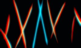 Futuristic neon curved lines abstract illustration background stock images