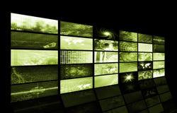 Futuristic Network Energy Data Grid Royalty Free Stock Photos