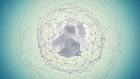 Futuristic network shape 3d render Royalty Free Stock Photography