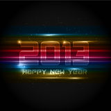 Futuristic New Year background Stock Photography
