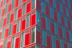 Futuristic office building facade. Futuristic red office building facade Stock Photography