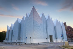 Futuristic office building in Szczecin Philharmonic Royalty Free Stock Images