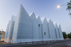 Futuristic office building in Szczecin Philharmonic Royalty Free Stock Photo