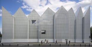 Futuristic office building in Szczecin Philharmonic Royalty Free Stock Image