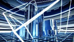Futuristic office buildings, HD loop stock video