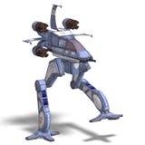 futuristic omformning för robotscifispaceship Arkivbild