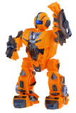 Futuristic orange robot Royalty Free Stock Images