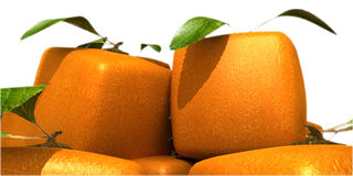 Futuristic oranges close-up Royalty Free Stock Images