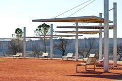 futuristic park Royaltyfria Bilder