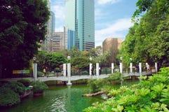 Futuristic park Kowloon Hong Kong view Stock Photo