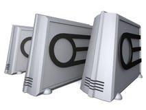 futuristic PC Fotografering för Bildbyråer
