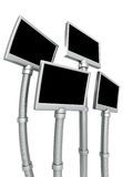 Futuristic photo frame stand isolated Royalty Free Stock Image